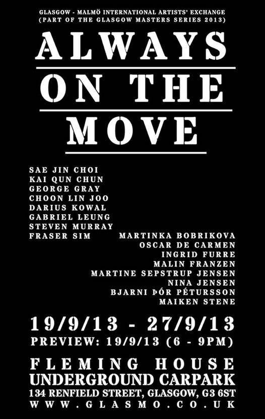 Glasgow Malmö International Artists' Exchange - Always On The Move - Poster